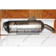 Комплект спортивного глушителя akrapovic BMW 77118544341