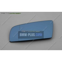 Зеркальный элемент BMW 5' асферический с обогревом голубой, с полосой, левый 51167065081